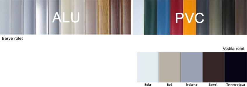 barve rolet in vodil