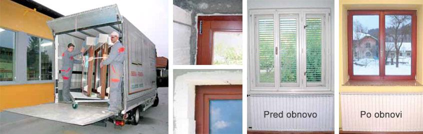 montaža oken